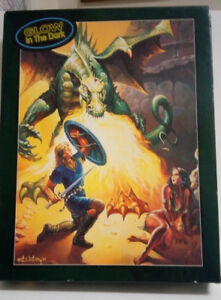 Bits & Pieces 550 pc. puzzle-DRAGON'S PASS-Ken Kelly-Glow in the Dark-Complete!