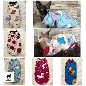 Polar Fleece Fabric Clothes for Sphynx. Warm jumper for cat