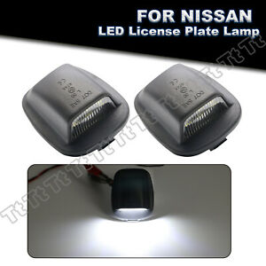 2x Full LED License Plate Lights Lamp For Nissan Xterra 94-2004 Frontier 98-2004