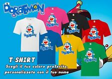 T-shirt Doraemon diversi colori (personalizzabile con nome)