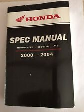 Honda Oem 2000 -2004 Motorcycle Scooter Atv Spec Manual