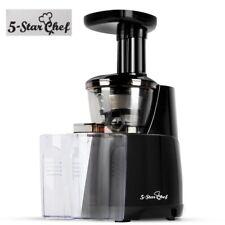 5-Star Chef Cold Press Slow Juicer Fruit Vegetable Processor Extractor Mixer BK