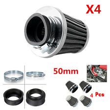 4x50mm Universal Tapered Pod Air Filters Clean Cleaner for Motorcycle Cafe Racer