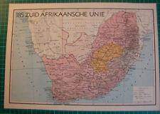 Old map South Africa 1939 kaart Zuid Afrika landkaart afrikaanse unie