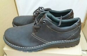 CLARKS Collection - Soft Comfy Suede Lace-Up Cushion Soft Shoes - Brown - UK 9.5