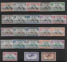 Egypt 1933 Airmail 2 Complete Sets Hinged C1-2 + C5-25