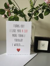 Like You a Lot Humour Valentines Day Card Love Heart Girlfriend Boyfriend Funny