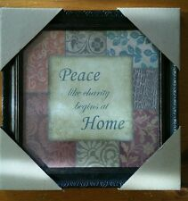"""Peace  Home Wall art Decor  bed & bath pictures  10""""x10"""""""