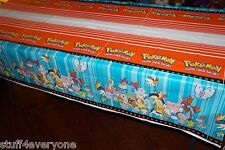 "Nintendo Pokemon Pikachu Birthday Party Plastic Tablecloth (54"" x 96"") Brand New"