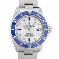 Rolex Mens Watch 16610 Stainless Steel Blue Submariner MOP Diamond Dial