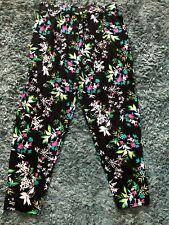 New ladies M&co black floral trousers size 16s