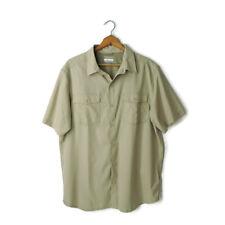 Columbia Men's size L Short Sleeve Vented Shirt Omni-Wick Advanced Evaporation