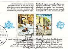 SAN MARINO  francobolli usati 1989 in foglietto 1989 EUROPA GIOCHI BAMBINI VEDI