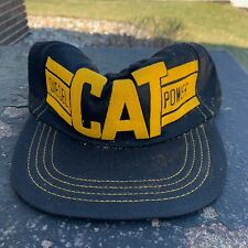 Vintage 80s Caterpillar Cat Diesel Power Fitted Trucker Hat Cap Made In Usa