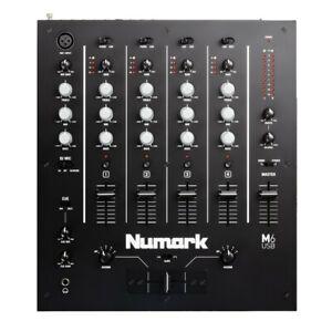 NUMARK M6 USB MIXER PROFESSIONALE 4 CANALI CON SCHEDA AUDIO per DJ pc mac NUOVO