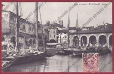 BRESCIA DESENZANO DEL GARDA 42 BARCHE - VELE - LAGO Cartolina VIAGGIATA 1926