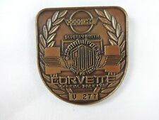 1995 Indianapolis 500 U 277 Bronze Pit Badge Corvette J. Villenueve Team Green