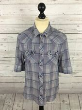 ALLSAINTS Shirt - Medium - Purple Check - Short Sleeved - Great Condition