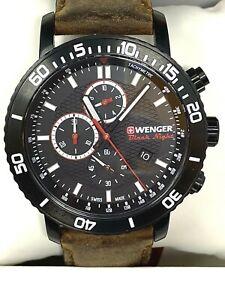 Wenger Roadster Black Night Chronograph Men's Swiss Watch 01.1843.107C