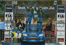 Petter negó mano firmado Subaru Impreza Rally 2003 campeón Foto 12x8 13.