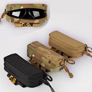 Tactical Sunglasses Case Pouch Hoder Eyeglasses Pouch Glasses Bag EDC Box
