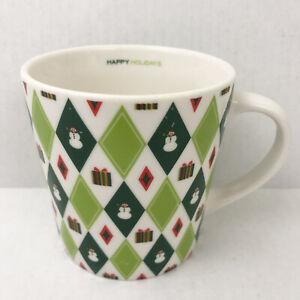 Starbucks Coffee Barista Happy Holidays Wrapping Paper Mug Tea Cup 2003