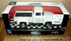 Ford 1956 F-100 Pickup Truck 1999 New Ray DIE CAST METAL 1/32 Toy 2002 White NIB