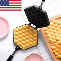 Waffle Pan Egg Cake Egg Bubble Maker Baking Mold Plate Pan Kitchen For Cake Shop