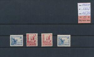 LO11071 Spain 1937 Isabella the Catholic fine lot MH cv 165,75 EUR