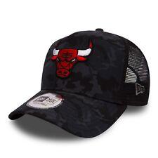 Uomini NEW ERA Berretto Da Baseball. Chicago Bulls Nero Mimetico una cornice Mesh Camionista Cappello 8S1 5