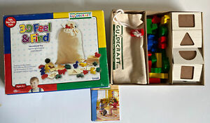 Guidecraft 3-D Feel and Find Educational Toy Game Matching Shapes Bag 🧩 G5060