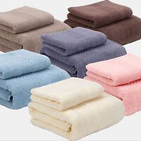 2pcs 100% Cotton Towel Bathroom Towel Set Soft Satin Bath Towels wash hand Towel