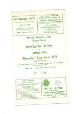 Away Teams S-Z Wrexham Welsh Cups Football Programmes