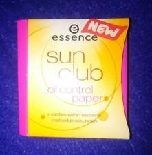 Essence sun club oil control paper 50 Stück NEU mattiert in Sekunden