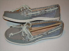 Sperry TopSider Firefish Gray Canvas/Mesh Boat Shoe (Wo's 5.5 M) (Girl 4.5 M)