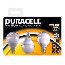 3 Lampadine a LED Duracell Forma Mini Globo 4W Attacco E14 Luce Calda 2700K