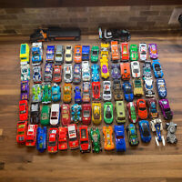 Mixed Lot of 70+Hot Wheels Matchbox Loose Diecast & Plastic Cars Trucks Vehicles