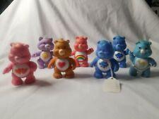 7 Vintage AGC Care Bears PVC Poseable Figures Cheer Tenderheart 1983-4