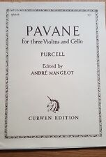 Pavane for 3 Violins and Cello by Henry Purcell. Full Score and Parts. Curwen Ed