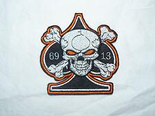 Ace of Spades cráneo 13 69 Hierro-Encendido/Sew-On para motociclista bordada parche