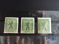 Germany Russian Zone 1945 zig zag Roulette mounted mint stamps  R27145