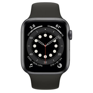 Apple Watch Series 6 GPS 44mm Space Gray Aluminum Case Sports Band Agsbeagle