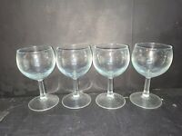 Set of 4 Cordial Glasses, 4 oz Panelled stem