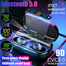4000mAh Bluetooth estéreo inalámbrico Auriculares Audífonos 5.0 TWS Auriculares Auriculares