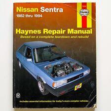 Nissan Sentra Nissan Sunny 1982-94 Haynes Owners Workshop Manual #72050