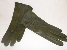 Reed Hill Ladies Leather Show Gloves Olive Green Small -MADE IN USA
