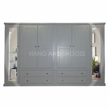 HANDMADE DEWSBURY 6 DOOR 4 DRAWER WARDROBE GREY (ASSEMBLED