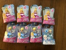 Lot Of 8 Disney Princess Little Kingdom Cinderella Elsa Aurora Snap-Ins Mini