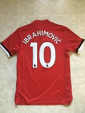 Adidas IBRAHIMOVIC 10 Manchester United Home Soccer Shirt Jersey 2017/18 Men S