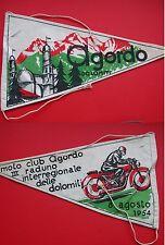 BANDIERINA PER MOTO D'EPOCA AGORDO MOTORADUNO 1954 SCOOTER LAMBRETTA VESPA FLAG